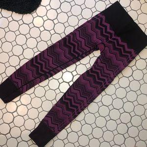 Purple lululemon stripped leggings
